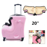 Multifunction Kids Luggage Ride On Suitcase Children's Travel Luggage Box 20 In