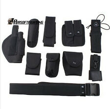 Tactical Gun Belt Bag Police Equipment for Security Guard SWAT Utility Belt BK