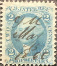 Scott #R13 US 1862 2 Cent Washington Revenue Proprietary Stamp