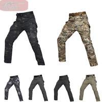 Men's Tactical Pants Combat Fleece Waterproof Softshell Casual Cargo Hiking IX9