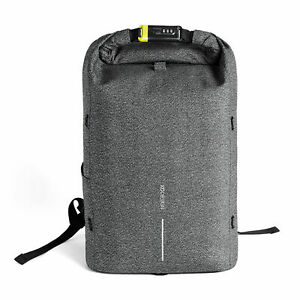XD Design Bobby Urban Anti Theft Laptop Backpack with Combination Lock, Grey
