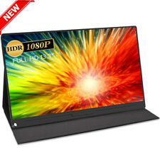 """13.3"""" USB C 1080P FHD for HDMI Display Portable Monitor Laptop Expansion Screen"""