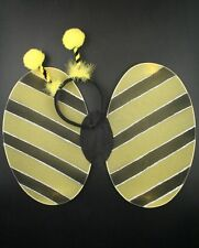 NEW Bumble bee wings deeley bopper yellow black adult large child fancy dress