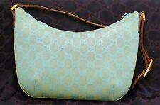 Vintage Gucci Hand Bag (Blue & Gold Print) | azjl