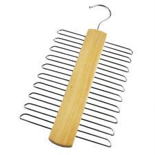 20 chrom gitter anzug krawatte gürtel aufhänger holz hänge halter aufbewahrung f...