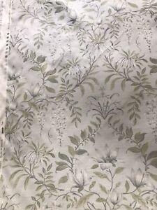 8m Parterre sage fabric linen blend botanical floral