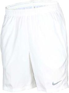 Nike Dri Fit Mens White Tennis Shorts