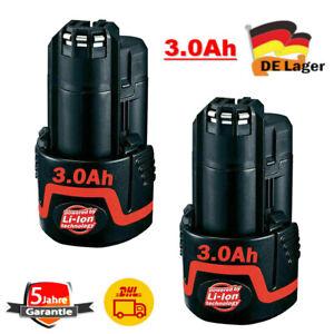 2x BAT411 Akku 3,0Ah 10.8V/ 12V für Bosch BAT412 GSR GDR GSB GSA GOP GWB 12VOLT