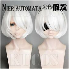 Halloween Wig Cosplay NieR Automata 2B White Short Hair fashion