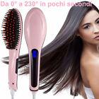 Spazzola elettrica ionica funziona come piastra per capelli lisci.Snoda,LCD 230°