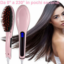 Spazzola ionizzante piastra capelli lisci. Riscalda,temperatura regolabile,LCD