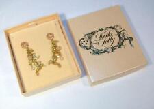 Gorgeous KIRKS FOLLY Hummingbird Moon Stars Charms Dangle Pierced Earrings