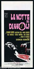LA NOTTE DEI DIAVOLI 1 TIPO LOCANDINA AGOSTINA BELLI HORROR 1972 PLAYBILL POSTER