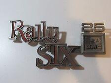 Vintage 1973-87 GMC Rally Six 25 Emblem Badge Script Trim Metal Chrome Wagon OEM