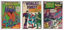 WORLD'S FINEST #158 159 & 160 1st DR ZODIAC DC Superman Batman 1965 G/VG To VG