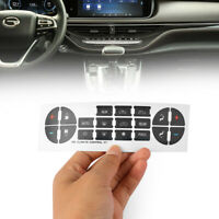 Car Interior Stickers Climate Control Replacement Control Button Decal