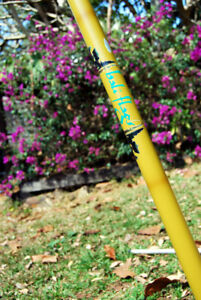 The Original Bali flag Pole with Flexible top curve Bamboo look or Silver
