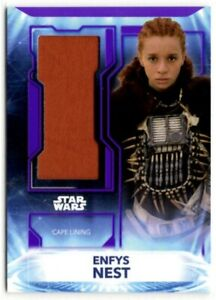 Star Wars Topps 2021 Battle Plans Enfys Nest Sourced Fabric Cape Relic Card /25