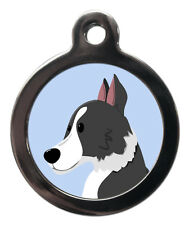 Border Collie Breed Cute Fun Pet Tags - Dog Cat ID Collar Tag - ENGRAVED FREE