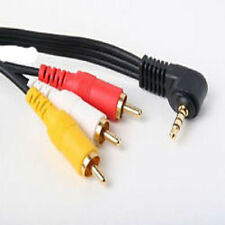 3.5mm AV Stereo Male to 3 RCA Female Audio Video Cable Camcorder24K Gold Plated