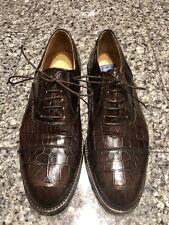 Davanzati Brown Alligator Men's Oxford Shoes