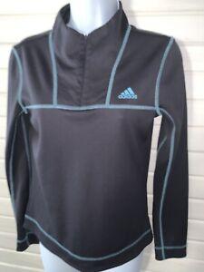 Adidas ClimaWarm Sz ?? (See Meas) 1/4 Zip L/S Running Yoga Volleyball Shirt EUC