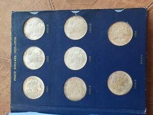 Peace silver dollar complete set