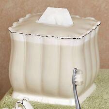 Croscill Amsterdam Tissue Box Cover Porcelain Elegant New