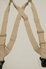 "1 1/2"" SIDE GRIP Style AIRPORT UNDER GARMENT SUSPENDERS PLASTIC CLIPS  USA MADE"