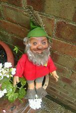"Antique vintage steiff gnome dwarf elf 13"",labelled tag and button steiff pucki"