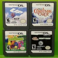 Nintendo DS Lite 2ds 3ds Game Lot Disney Up Christmas Carol Backyardigans Jake