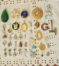 Pendents And/Or Charms, Sm, Med, Large, Mixed Lot, For Crafts, Fun ! Lot #1111C