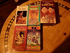 LOT of 5 VHS TAPES: OUR GANG, THE LITTLE RASCALS, LAS VEGAS, FREESTYLE MOTOCROSS