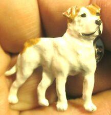 Vintage Enamel on Pewter American Bulldog Pin