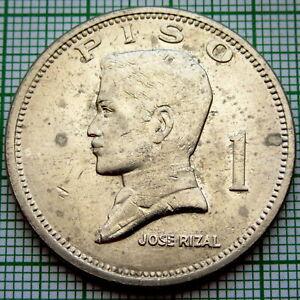 PHILIPPINES 1972 1 PISO, JOSE RIZAL, UNC