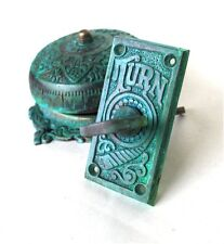 Twist Door Bell Tiffany Green REPLICA brass door hardware old restoration