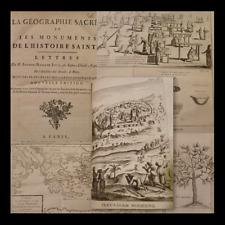 JERUSALEM - Joly : La Geographie Sacree 1784 Bibbia Mappe Storia Naturale 20 tav