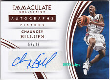 2015-16 IMMACULATE AUTO #43: CHAUNCEY BILLUPS #59/75 AUTOGRAPH PISTONS ALL-STAR