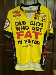 """Voler Mens Cycling Jersey Sz S """"Old Guys Who Get Fat in Winter"""" Racing Team"""