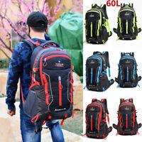 60L Large Waterproof Backpack Rucksack Hiking Camping Travel Bag Outdoor Bag New