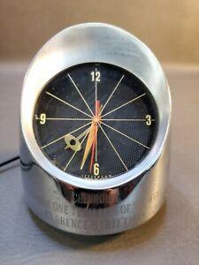 Jefferson 500 Bullet Space Age Atomic MCM Desk/Table/Mantle Clock  Works!
