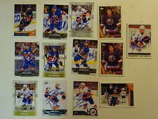LOT OF 13 AUTOGRAPHED NEW YORK ISLANDERS Signed NHL HOCKEY CARDS UPPER DECK Etc