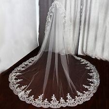 1 Couche Dentelle Blanc / Ivoire Mariage Soirées Accessoires De La Mariée Voiles