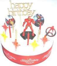 IRON MAN Cake Decoration Set  - Cake Topper Figure Decoration Birthday