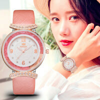 Women Luxury Leather Band Watch Waterproof Analog Quartz Diamond Wrist Watches