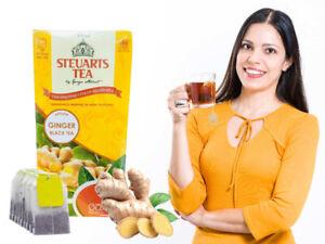 Ceylon GINGER STEUARTS Black Tea Original 25 Bags Herbal Pure Free Fresh 100%