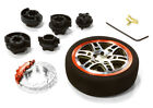 C26405GUNRED D6S Steering Wheel Set for Most HPI, Futaba, Airtronics, Hitec & KO