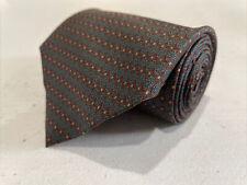 Lanvin Men's Grey/Blue Geometric Silk Neck Tie $215