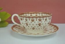 Vintage Spode Fleur de Lis Brown Cup and Saucer