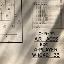 Bally Air Aces Pinball Machine Schematic